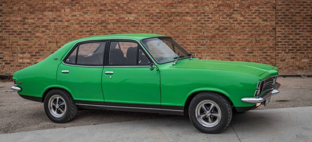 Green Holden Torana restored by Daves Panel Worx