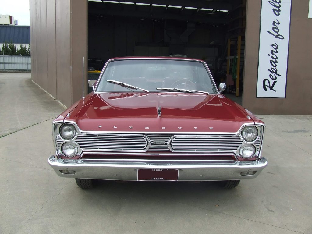 1966 Plymouth after being restored by Dave's Panel Worx